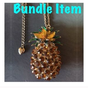 NWOT BJ Huge Pineapple Crystal Necklace